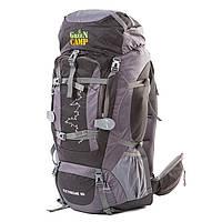 Туристический рюкзак GREEN CAMP 80л черно-серый