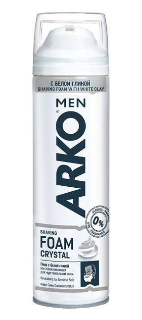 Пена для бритья Arko Crystal, 200 мл