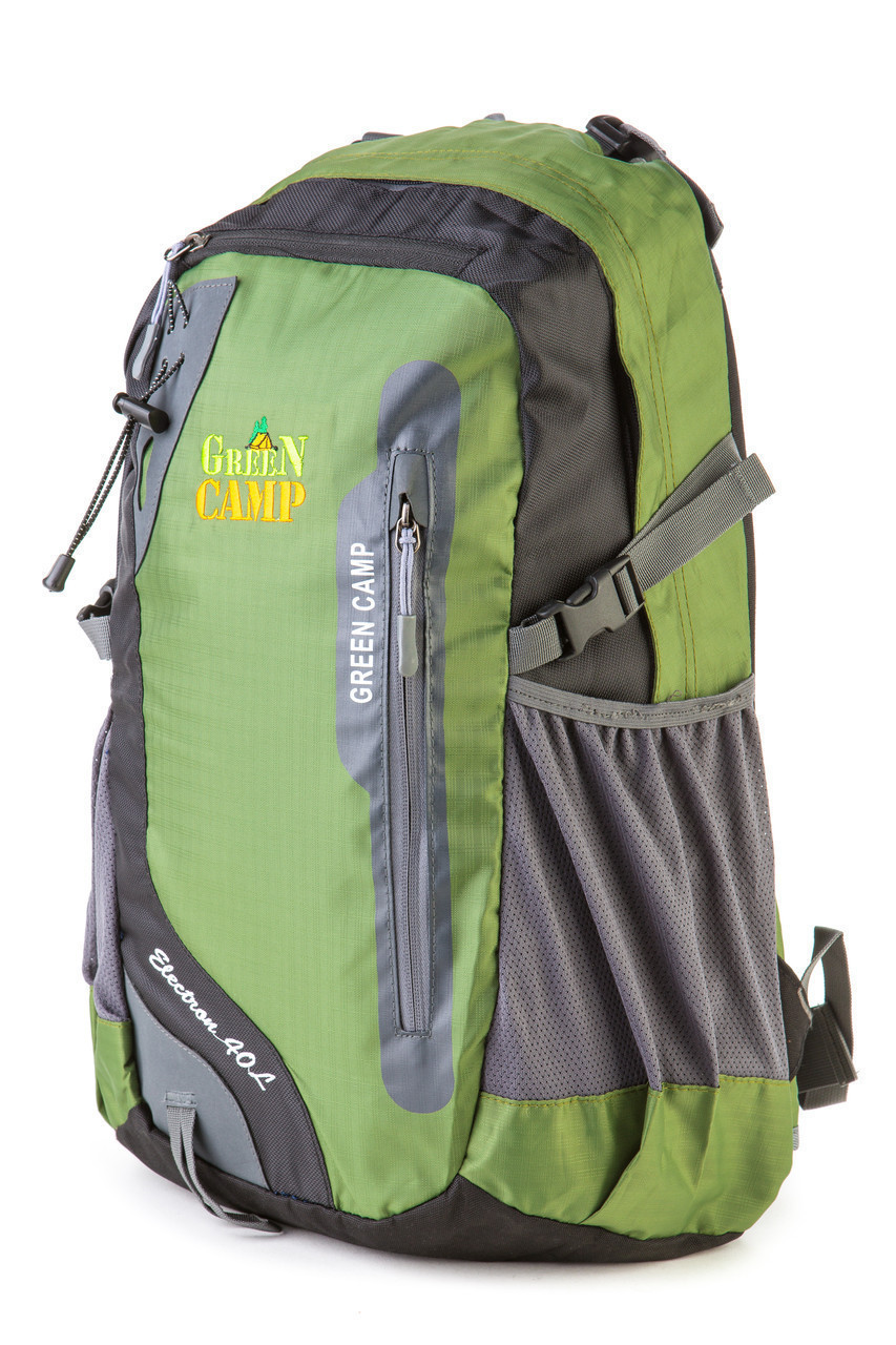 Городской рюкзак GreenCamp 40л зеленый