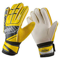 Вратарские перчатки Latex Foam MITER, размер 8, желтый, фото 1