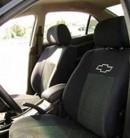 Чехлы на сиденья, авточехлы Chevrolet Aveo (х/б)  2005 - 2011 Стандарт задняя спинка цельная горбы; 2 подголовника Prestige