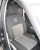 Чехлы на сиденья Dacia Logan MCV 7  2004 - Стандарт 'Prestige' задняя спинка и сидение 1/3 2/3; задняя спинка цельная; 7 подголовников