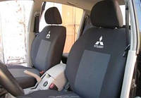 Чехлы на сиденья Mitsubishi Lancer X (Х/Б)  2008 - Стандарт 'Prestige' задняя спинка 1/3 2/3 с подлокотником; 5 подголовников
