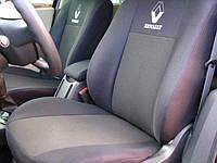 Чехлы на сиденья Renault Trafic 1+2  2001 -  Стандарт 'Prestige' задняя спинка цельная; 3 подголовника; пер. подлокотник