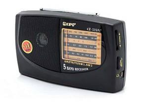 Радио KB 308 + USB, Радиоприемник портативный, Компактное юсб радио, Радиоприемник колонка, фото 2