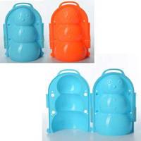 Снежколеп MS 1268 (120шт) снеговик, 20см, 3D, чемодан, 2 цвета, 16-22-7см