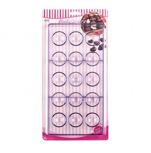 Форма для конфет поликарбонатная Полусфера из 15 шт