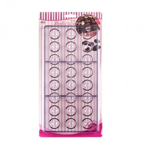 Форма для конфет поликарбонатная Полусфера из 24 шт.