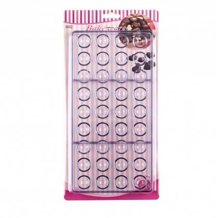 Форма для конфет поликарбонатная Полусфера из 36 шт., фото 2