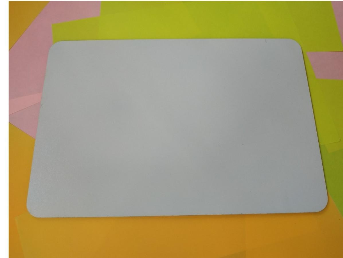 Квадратная подложка ДВП 25*25 см, Белая с закругленными краями (1 шт)