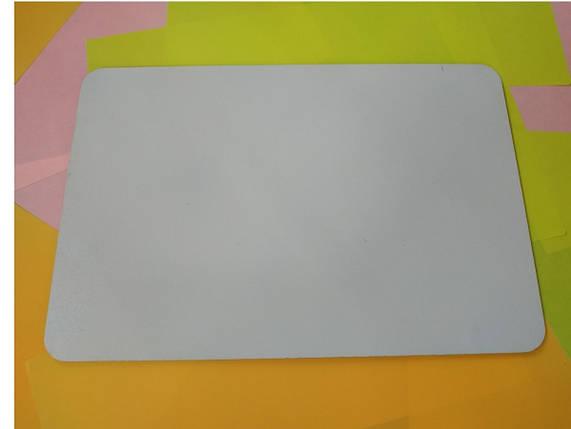 Квадратная подложка ДВП 25*25 см, Белая с закругленными краями (1 шт), фото 2
