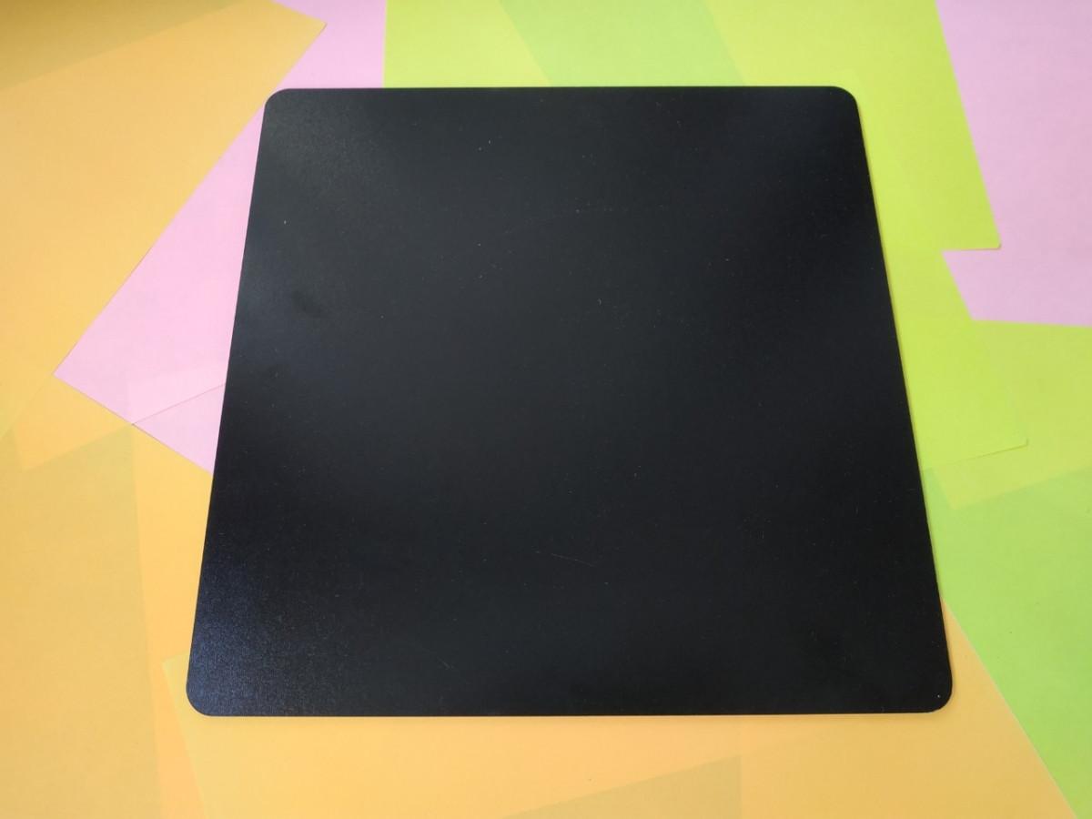 Квадратная подложка ДВП 30*30 см, Черная с закругленными краями (1 шт)