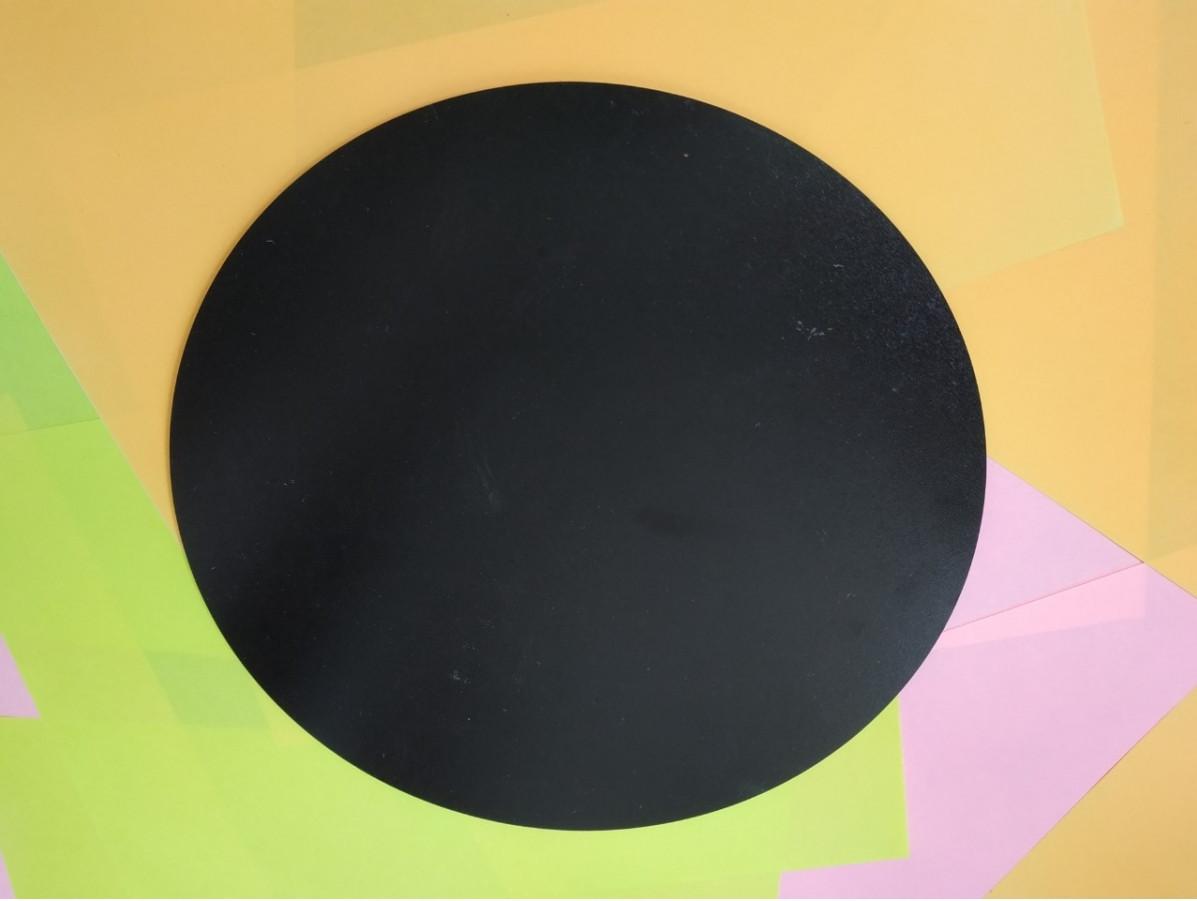 Круглая подложка ДВП 30 см, Черная (1 шт)