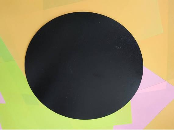 Круглая подложка ДВП 30 см, Черная (1 шт), фото 2