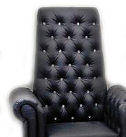 """Педикюрное кресло """"Трон ICE QUEEN"""" (на 4 пуговицы) Turquoise"""