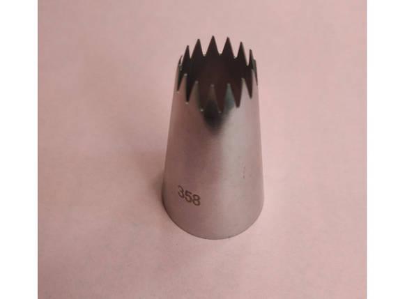 Насадка кондитерская безшовная метал. № 358, фото 2