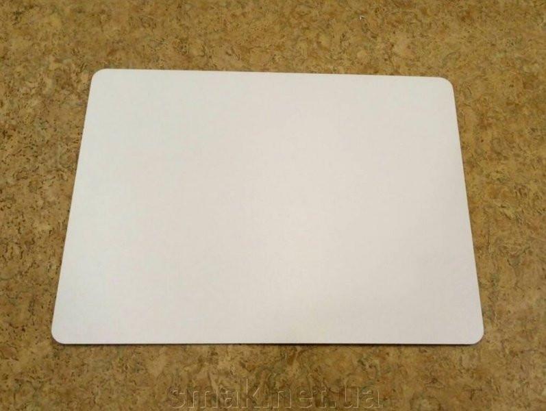Прямоугольная подложка ДВП 30*30 см, Белая с закругленными краями (1 шт)