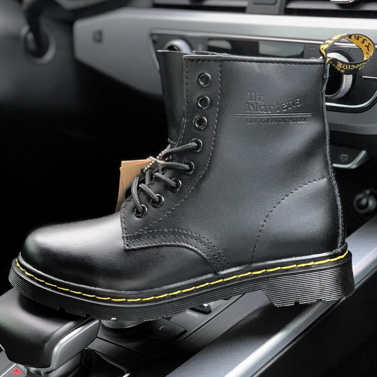 Женские и мужские ботинки Dr. Martens 1460 Black, демисезон - без меха
