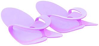 Тапочки-вьетнамки, фиолетовые, 12 пар