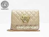Женская сумка Versace бежевая