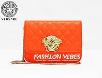 Женская сумка Versace оранжевая