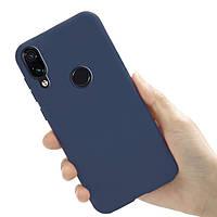 Чехол Style для Xiaomi Redmi Note 7 / Redmi Note 7 Pro бампер силиконовый Синий