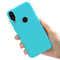 Чехол Style для Xiaomi Redmi Note 7 / Redmi Note 7 Pro бампер силиконовый Голубой