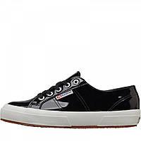 Кеды Superga 2750 Leather Patent Black Black - Оригинал