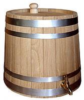 Жбан дубовый наливной для напитков 80 литров