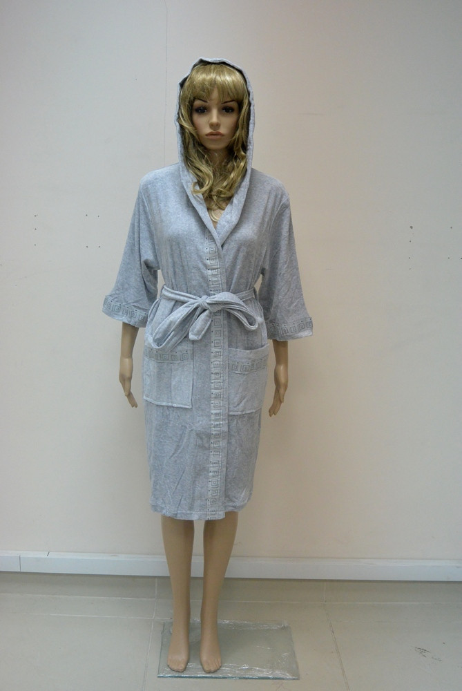 Халат женский NS 8295 серый (1266)
