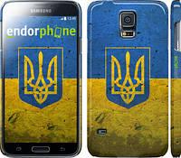 "Чехол на Samsung Galaxy S5 Duos SM G900FD Флаг и герб Украины 2 ""378c-62"""