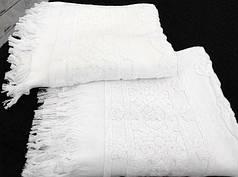 Полотенце махровое Royal белый 50х100 (4752)