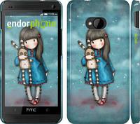 """Чехол на HTC One M7 Девочка с зайчиком """"915c-36"""""""