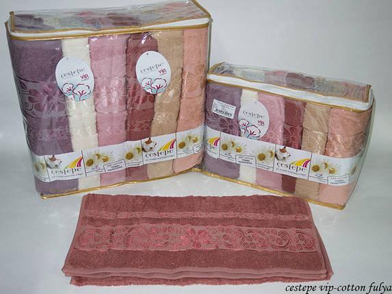 Набор полотенец VIP Cotton 6шт. 50х90 (5137), фото 2