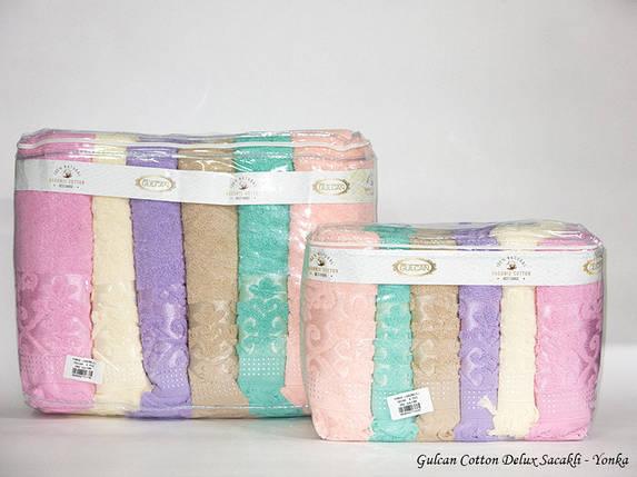 Набор хлопковых полотенец Gulcan Sacakli Delux Cotton с бахромой 70х140 (5281), фото 2