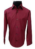 Рубашка детская бордовая №12- 506/19-2024