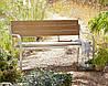 Скамейка для сада Haversham 2 Seat Classic Garden Bench in Taupe and Dark Linen.