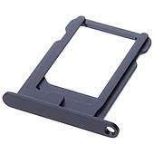 Лоток-держатель сим-карты (Nano SIM) iPhone 5/5S - черный