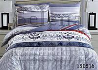 Комплект постельного белья Абстракция Эллада Лагуна двуспальный евро (7347)