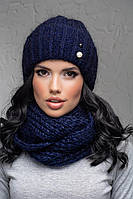 Комплект (шапка и снуд-хомут) Flirt Лика-Морган One Size синий1016