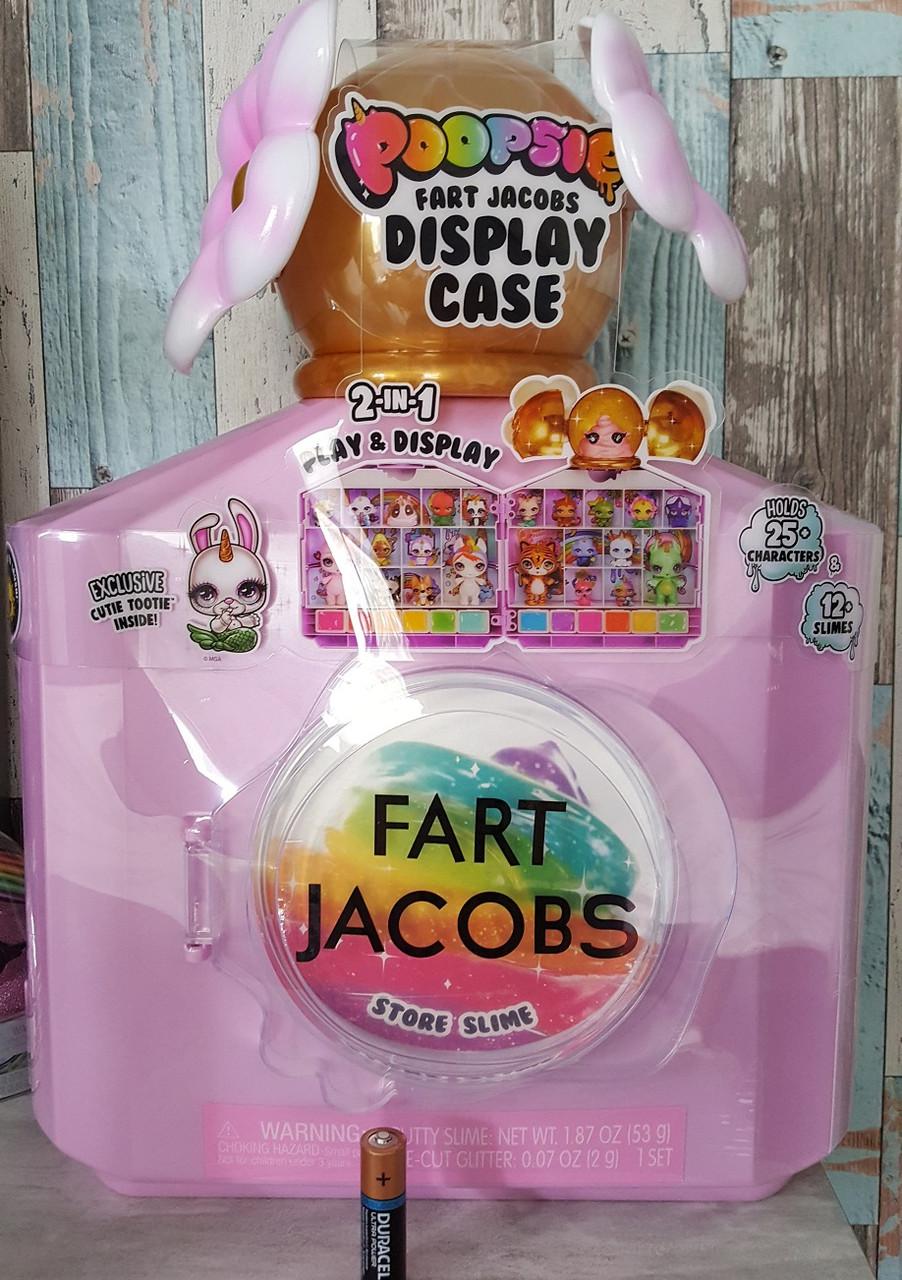 Набор с редкой фигуркой для хранения фигурок и слаймов пупси слайм, Poopsie Fart Jacobs, MGA