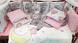 Детское постельное белье в кроватку с мишками 8в1, фото 5