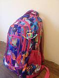 Рюкзак школьный ортопедический для девочки. Абстрактный принт. Производство Польша Link, фото 4