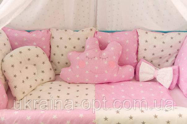 Набор постельного белья в детскую кроватку Облако