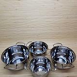 Набор кастрюль из нержавеющей стали. Кастрюли 1.6 л/ 2.3 л/3.0л/3.5 литров, фото 4