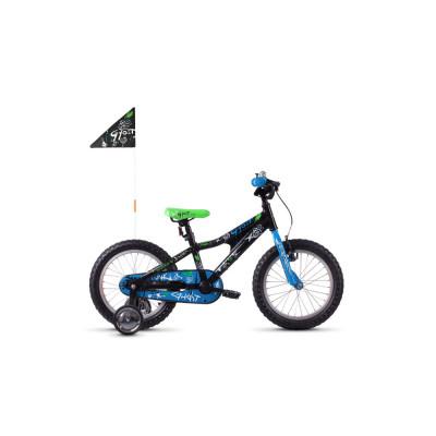 "Велосипед Ghost POWERKID 16"" ,черно-сине-белый,  2019"