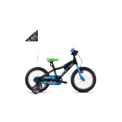 "Велосипед Ghost POWERKID 16"" ,черно-сине-белый,  2019, фото 2"