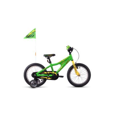 "Велосипед Ghost POWERKID 16"" , зелено-желто-черный, 2019"