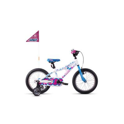 """Велосипед Ghost POWERKID 16"""" ,бело-сине-розовый,  2019"""
