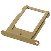 Лоток-держатель сим-карты (Nano SIM) iPhone 5/5S - золотой